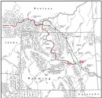Bridger Montana Map.Wyoming State Historic Preservation Office The Bridger Trail The