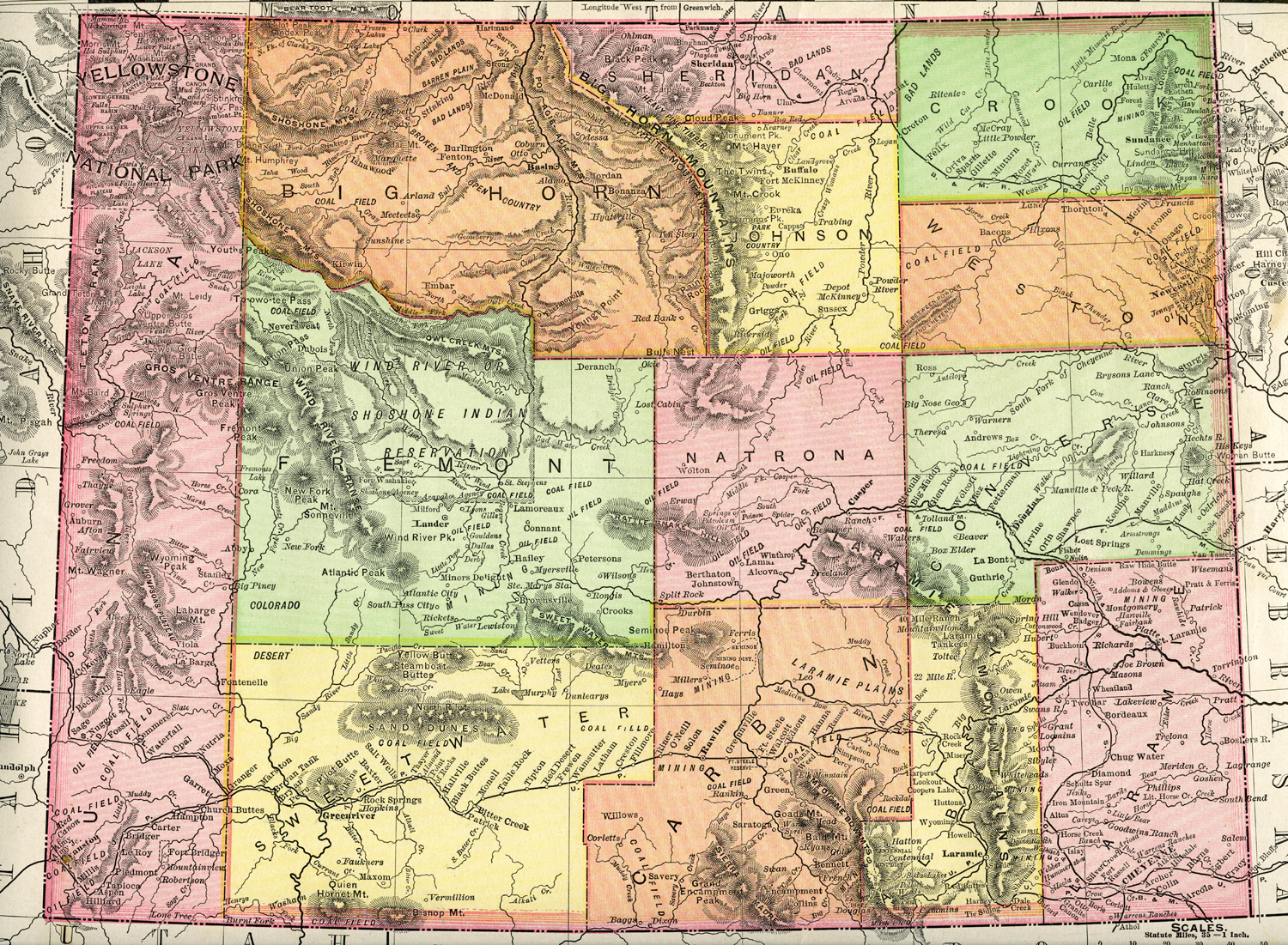 Wyoming Homesteading Wyoming Historical Maps - Wyoming maps