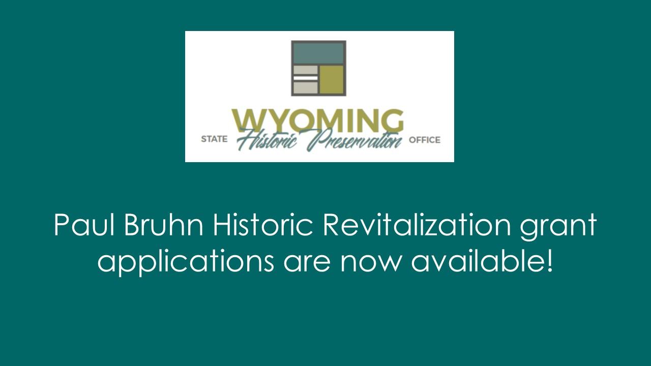 Paul Bruhn Historic Revitalization Grants Program